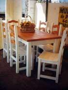 Sentar las bases para su hogar mesas y sillas de pino for Sillas para quincho